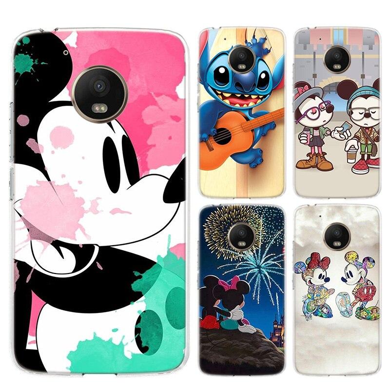 Disneys Cartoon Flower Love Heart Soft Silicones Case For Motorola Moto G8 G7 Power G6 G5 G5S E4 E5 Plus G4 Play Back TPU C