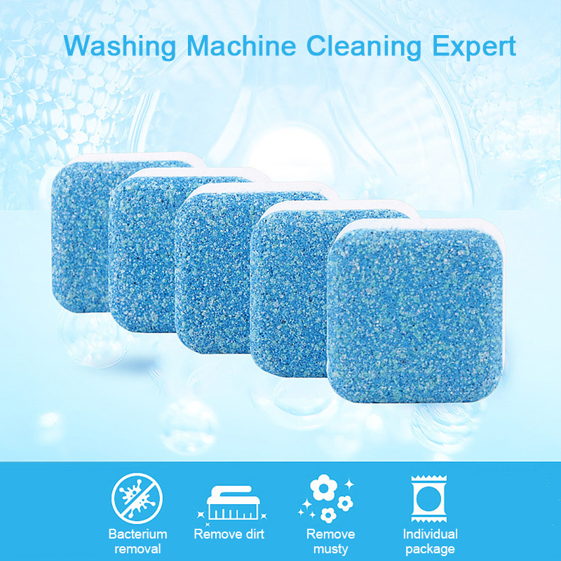 10PCS Washing Machine Cleaning Effervescent Tablet Washer Cleaner Descaler Deep