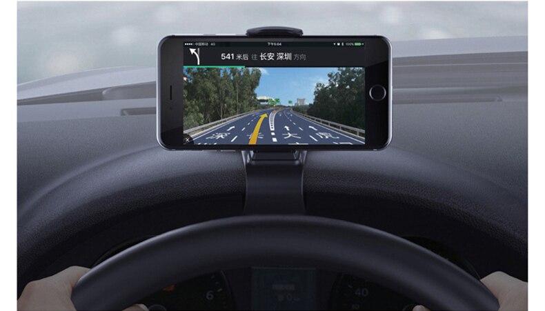 Car Phone Holder Dashboard Mount Universal Cradle Cellphone Clip