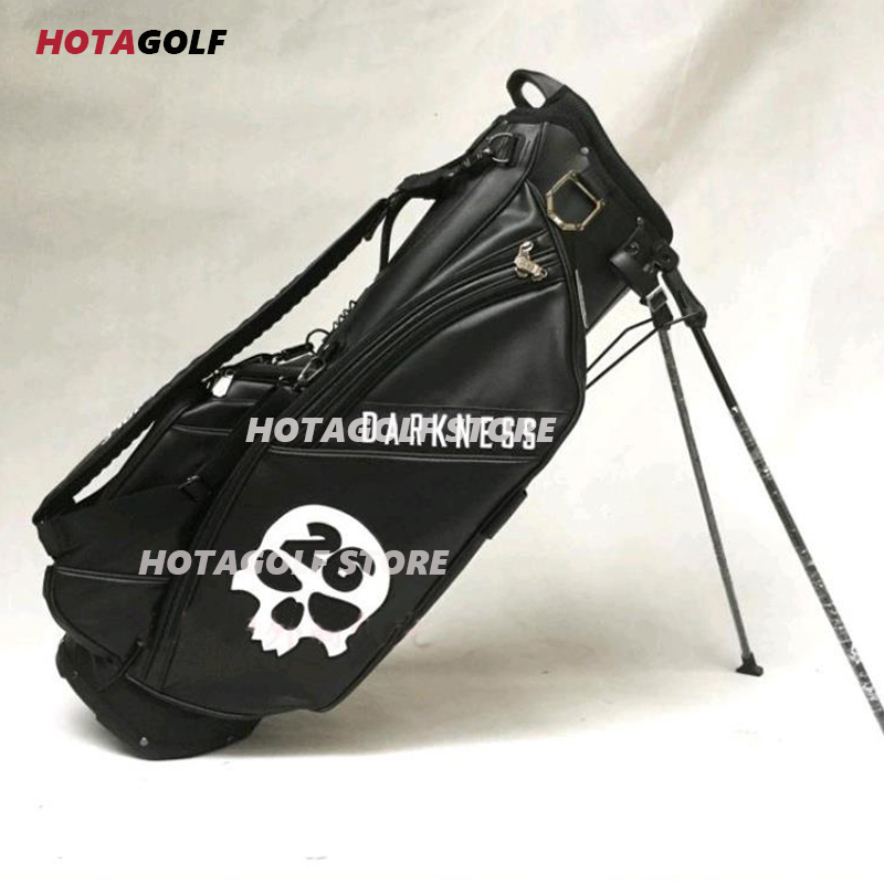 2021 New Skull printing Golf Bag PU Men Women Full Clubs Set Standard Black /White Golf Bags 1