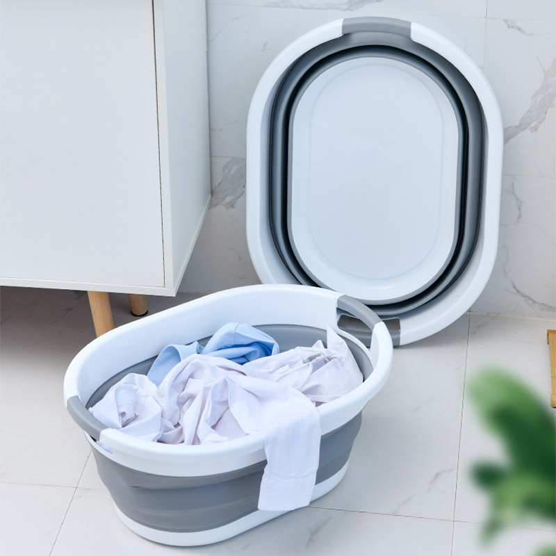 Folding Plastic Bucket Home Bathroom Products Large Laundry Basket Clothes Storage Bucket Camping Outdoor Travel Portable Bucket