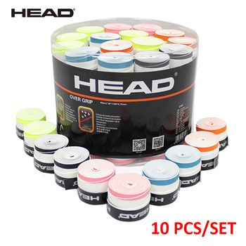 10 PCS/SET Anti Slip Head Overgrip Tennis Grip Racket Padel Accessories Shock Absorber Raquete De Badminton Training - discount item  31% OFF Racquet Sports