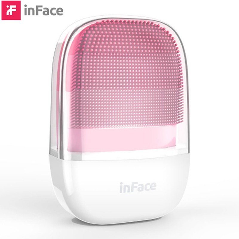 InFace MS-2000 Electric Deep Facial Cleaning Massage Brush Sonic Face Washing IPX7 Waterproof Silicone Face Cleanser Skin Care