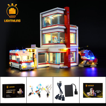 LIGHTAILING LED Light Kit For City Series City Hospital Lighting Set Compatible With 60204 (NOT Include The Model) цена 2017