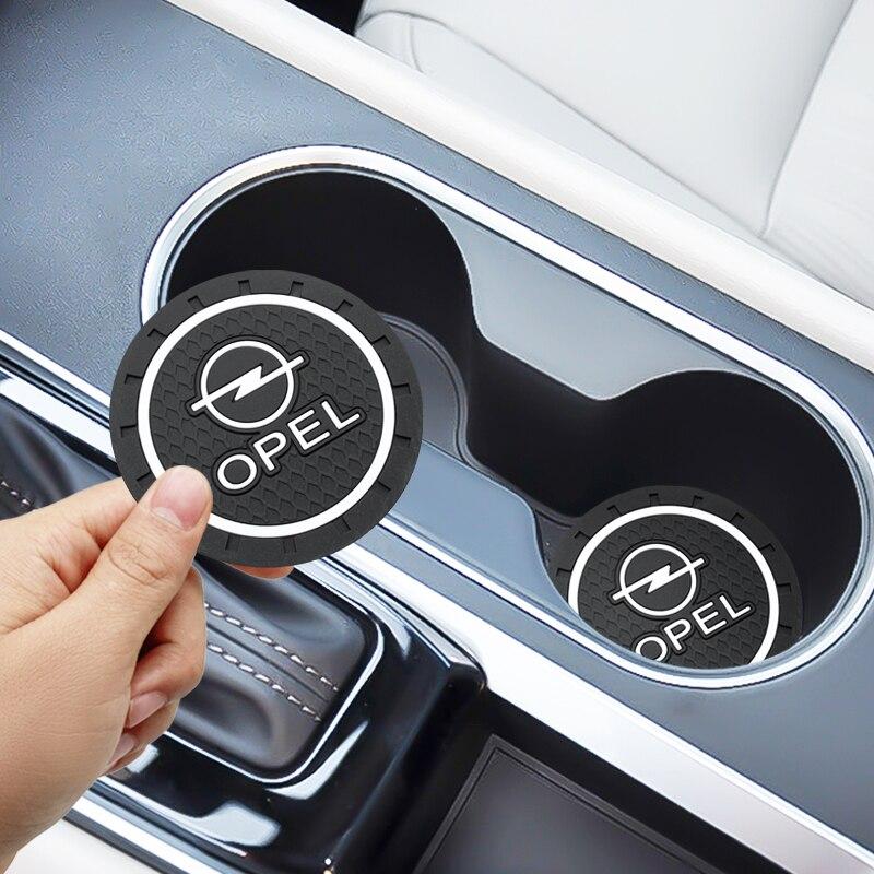 2PCS Car Water Cup Bottle Holder Anti-slip Pad Mat Silica Gel For Opel Zafira A B Astra H G J K F Mokka Corsa B C D Vectra