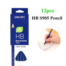 Deli 12pcs/Lot Wooden Lead Pencils HB Stationery Office & School Supplies Wood pencil for student drawing writing