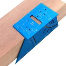 Карпентер алюминиевый сплав угловая линейка многофункциональная линия позиционирования измерительный прибор транспортиры измерительный прибор