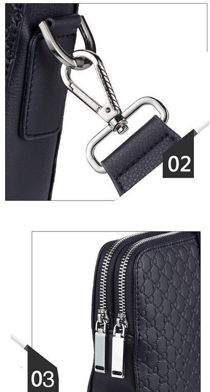 Hf76b6e403dfa4fac97ed3b5cb643bdecZ New Double Layers Men's Leather Business Briefcase Casual Man Shoulder Bag Messenger Bag Male Laptops Handbags Men Travel Bags