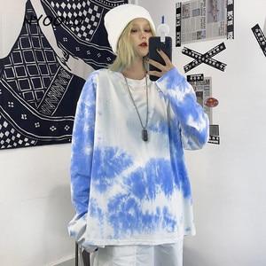 Футболка NYOOLO женская с длинным рукавом, винтажный дизайнерский топ в стиле хип-хоп, уличная одежда в стиле харадзюку, свободный пуловер для ...
