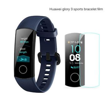 1/6PCS Screen Protector Cover Clear Full Coverage Protective Film Tempered Glass for Watch Huawei glory 3 sports bracelet film image