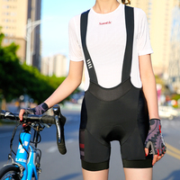 Santic 2020 Women Cycling Bib Shorts Shockproof Breathable Quick Dry MTB Bicycle Bib Shorts Asian size L0C05114