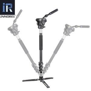 Image 4 - INNOREL MT70 çok fonksiyonlu Video Tripod,Monopod 360 derece CNC alaşım hızlı kapak toka ve sıvı kafa için DSLR kameralar