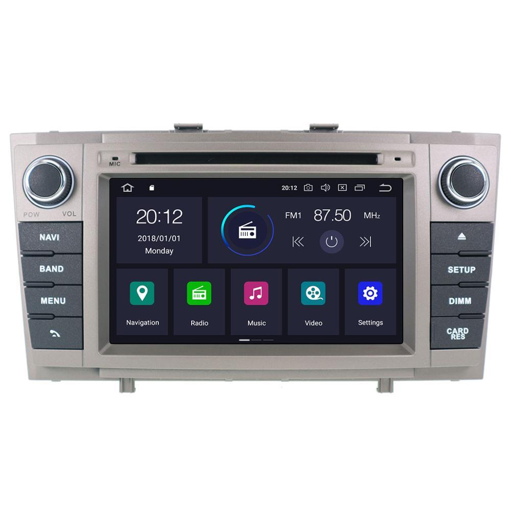 DSP Android 10,0 Auto-DVD-Stereo-Multimedia-player Für Toyota T27 Avensis 2009-2014 Auto PC Radio GPS Navi video Audio kopf einheit