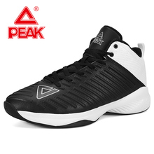 цены PEAK Men Basketball Shoes Cushion Breathable Flexible Basketball Sneakers Lightweight Comfortable Outdoor Athletic Sport Shoes