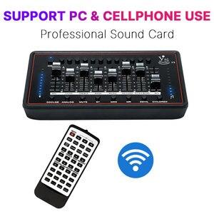 Звуковая карта с аудио интерфейсом, профессиональный студийный аудио микрофон, внешняя звуковая карта с пультом дистанционного управления...
