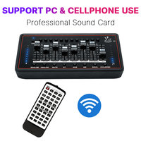 Audio Interface Sound Card Professional Studio Audio Microphone External Sound Card With Remote Control For Broadcast Guitar PC