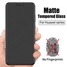 Verre trempé givré mat pour Huawei Honor 8X 10 9 8 Play 8X 7X View Mate 20 P smart plus 2019 Film protecteur décran verre