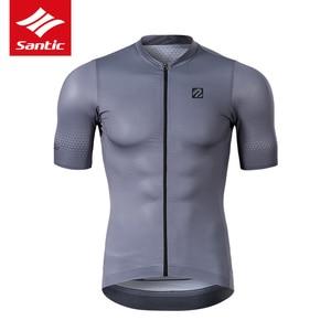 Image 1 - Koszulka rowerowa Santic TOP 2019 nowa męska koszulka Pro Team MTB Road Bike oddychająca szybkoschnąca koszulka na rower Ropa Ciclismo