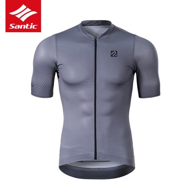 Koszulka rowerowa Santic TOP 2019 nowa męska koszulka Pro Team MTB Road Bike oddychająca szybkoschnąca koszulka na rower Ropa Ciclismo
