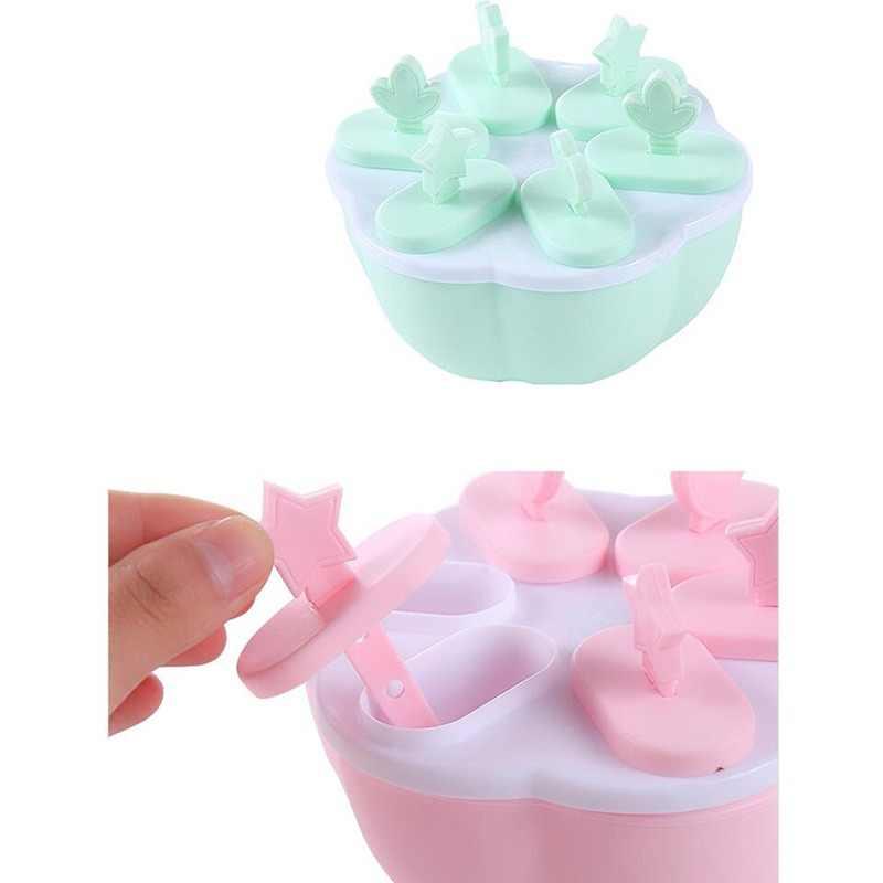 Moule à glace fait main Silicone avec couvercle mignon en forme de coeur glaçon bricolage Popsicle moule glace Popsicle faisant des moules 3 Pcs/lot