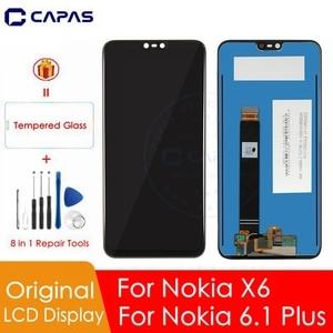 Image 1 - Pantalla LCD Original para Nokia X6, Panel de pantalla táctil para Nokia 6,1 Plus, digitalizador LCD, piezas de repuesto de reparación