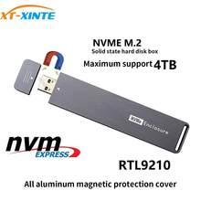 Usb 3.0 m. 2 nvme enclosure rígido externo pci-e x4 x2 m2 para tipo a chave ssd case suporte 2280 2260 adaptador de cartão 2242 4tb hdd,