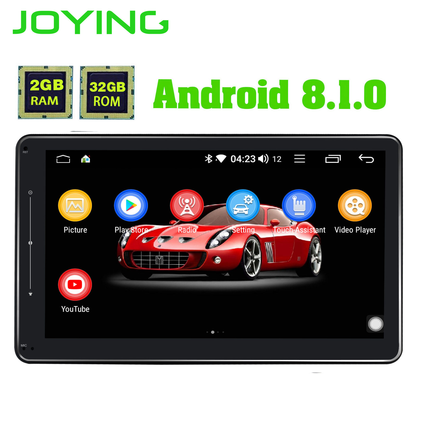 1280*720 10.1 Head Unit Android Universal Car Stereo Single 1 din Octa Core 2G+32G Car Audio Radio No DVD Mirror link DSP DVR image