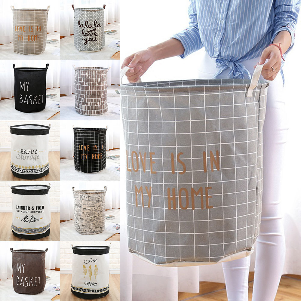 Newly Waterproof Storage Basket Organizer Convenient Storage Container For Office Bedroom Laundry Foldable VA88