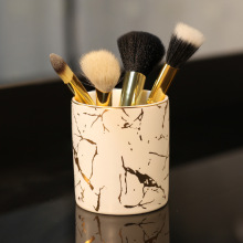 Storage-Bottles Makeup-Brush Marble Desktop-Storage Nordic Ceramic-Pen-Holder Minimalist