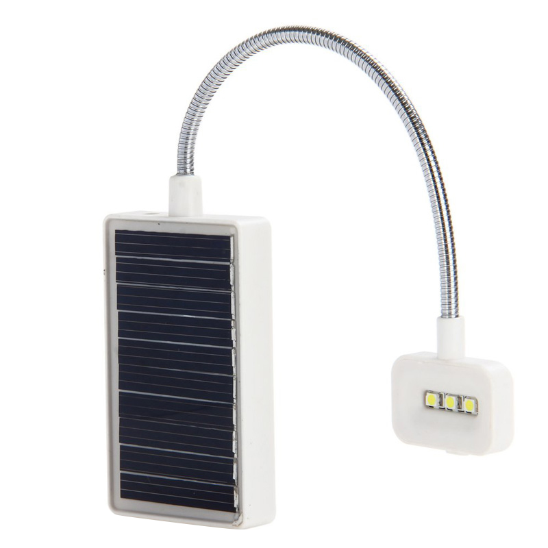 Solar Mini Flexible Clip Reading Light Charging Book Lamp Solar Powered Reading Emergency Light Table Lamp for Reader