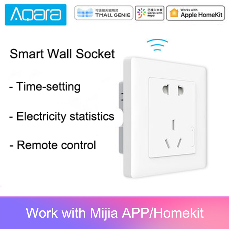 Aqara Smart Wall Socket ZigBee Wireless Wall Outlet Mijia Wall Socket Switch Work For Mijia Smart Home Mihome APP