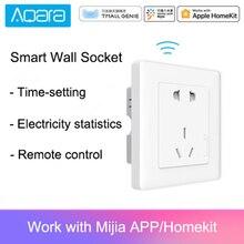 Умная розетка Aqara ZigBee, беспроводной выключатель для умного дома, работает с приложением Mi Home