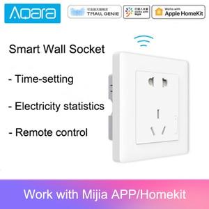 Image 1 - Aqara enchufe de pared inteligente ZigBee, inalámbrico, Mijia enchufe de pared, funciona con la aplicación Mijia Smart Home
