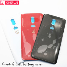 For Oneplus 6 Glass Battery cover Door Smart Phone Back Cover Replacem