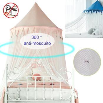 Dziecko sufit księżniczka wiatr moskitiery łatwy montaż łóżko sufitowe zasłony domu chłopców i dziewcząt moskitiery tanie i dobre opinie CN (pochodzenie) Poliester bawełna Unisex W wieku 0-6m 3-6y 7-12y 7-12m 13-24m 12 + y 25-36m Wisiał dome moskitiera Kids Princess Mosquito Net