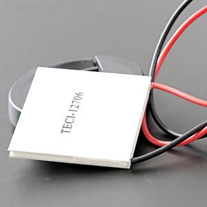Image 2 - 2 pçs/lote TEC1 12706 12v 60w termoelétrico cooler peltier para dispensador de água equipamentos de refrigeração módulo elemento peltier