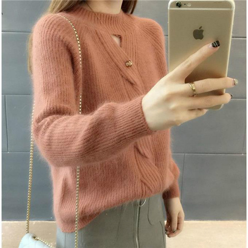 Cheap Wholesale 2019 New Autumn Winter Hot Selling Women's Fashion Casual Warm Nice Sweater BP132