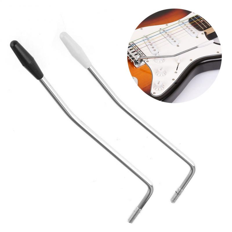 High Quality 5 Or 6mm Black / White Head Guitar Vibrato Arm Striker Tremolo Arm Whammy Bar For Fender And Squier Strat
