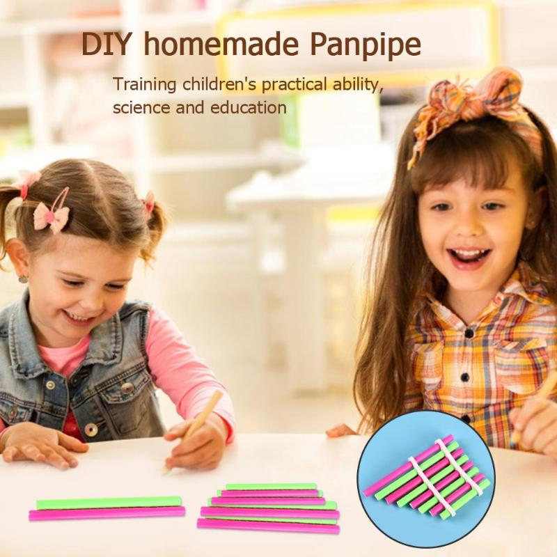 DIY Simple Pan Flute Toys Exercise Hands-on Ability Creative Panpipe Kindergarden Art Children Smooth Appearance Gift