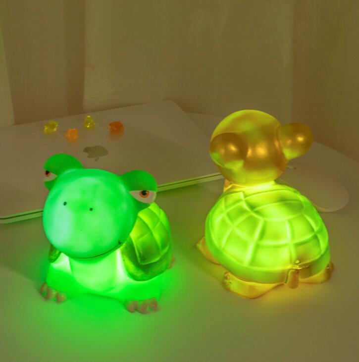 Novelty Children's Eye-Protecting Night Lamp Enamel Tortoise Molding Lamp Energy-saving Night Lamp