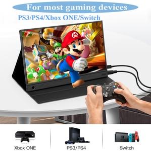 Image 3 - Eyoyo EM15K HDMI USB نوع C شاشة محمولة 1920x1080 FHD HDR IPS 15.6 بوصة شاشة LED مراقب لأجهزة الكمبيوتر PS4 Xbox الهاتف المحمول