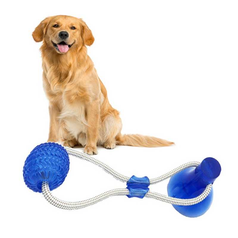 Pet Supplies Self-playing Rubber Ball Toy With Suction Cup Dog Interactive Molar Chew Toy Teeth Cleaning Tool Dog Teeth Cleaning