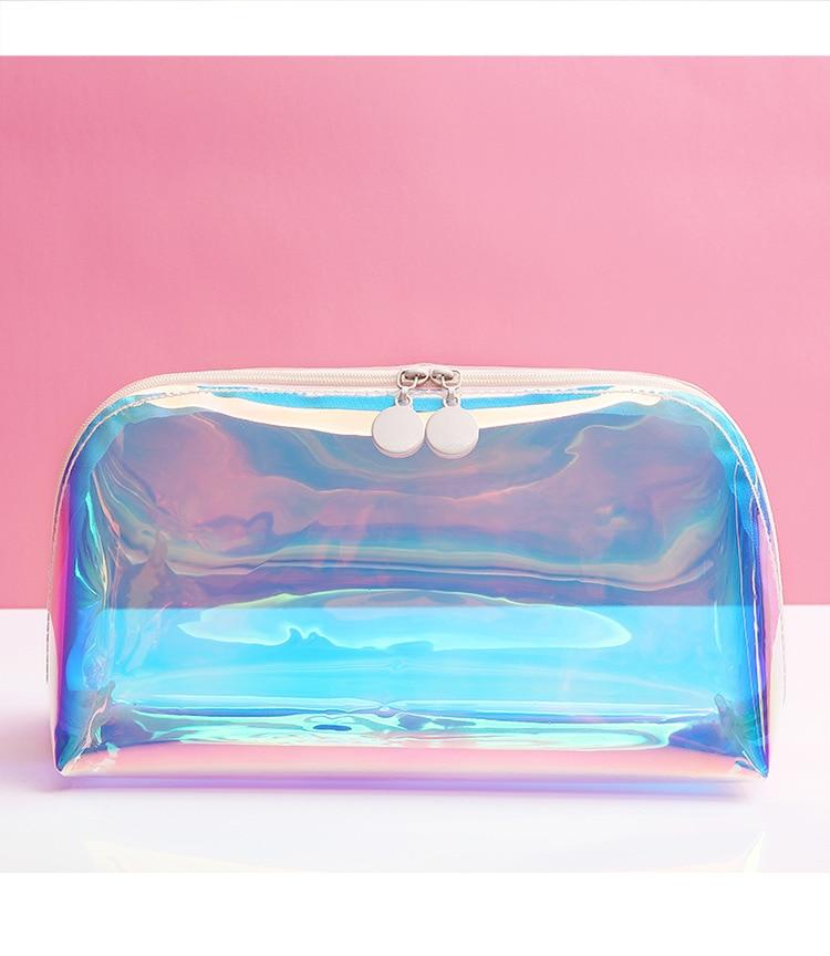 2020 New In Women Laser Waterproof Wash Bags Transparent Large Capacity Cosmetic Bag