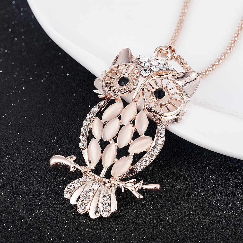 Hf76d6b51a3684aca89fd7ec0c5e51c1cm - New Fashion Simple Zircon Necklace for Women Medallion Pendant Long Necklaces Boho Jewelry Statement Necklace Wholesale