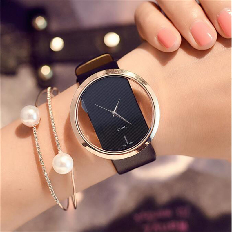 Watch Lady Watches Women Luxury Top Leather Quartz Antique Stylish Round Dress Watch Relogio Feminino Montre Femme