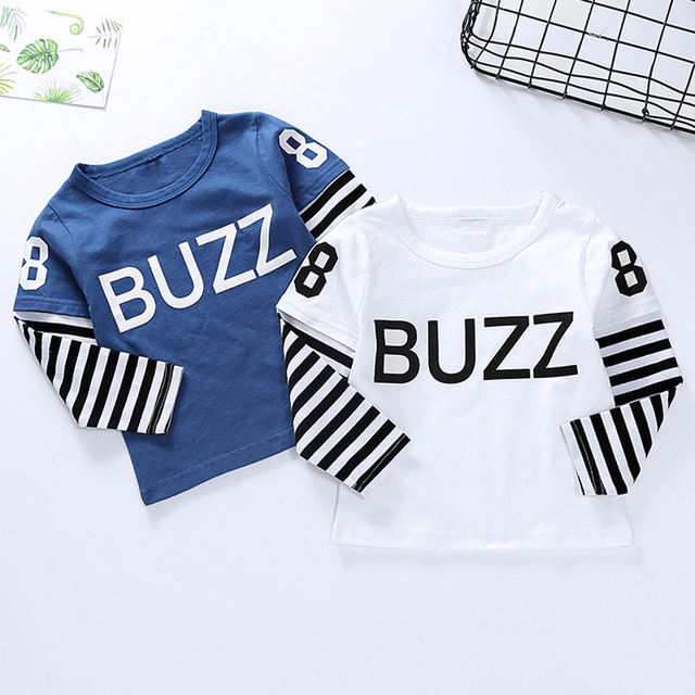 New Spring Boys Girls Cartoon Cotton T Shirts Children Tees Boy Girl Long Sleeve T Shirts Kids Tops Brand Baby Clothes 12M-8Y 5
