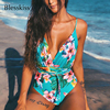 Tropical Print One Piece Swim Suit 1