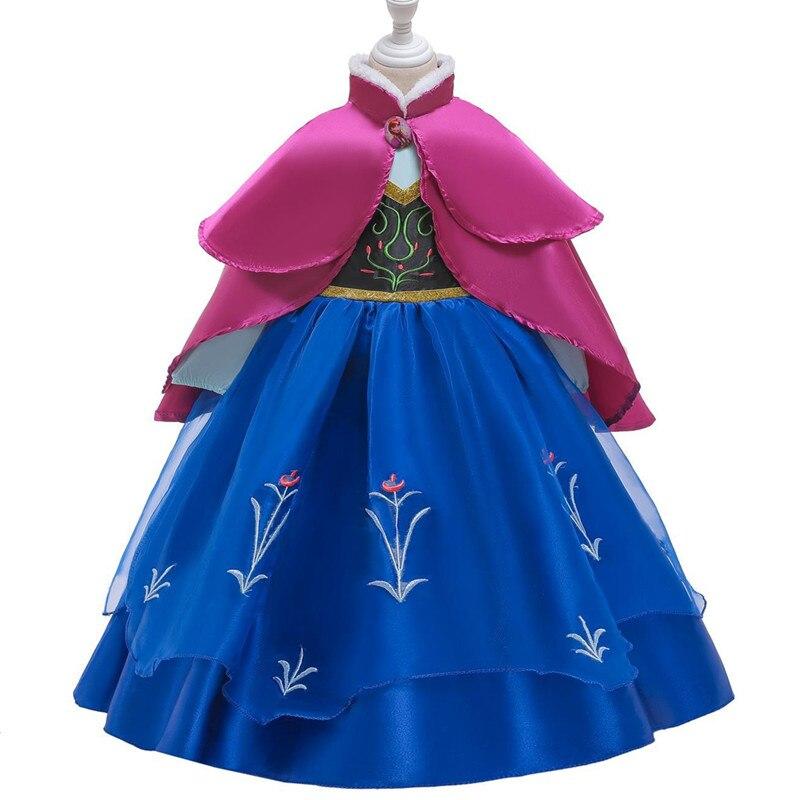 Hf76da2c809bf43ed9c4b07e1619ee282F Send crown Baby Girls Dress Christmas Anna Elsa Cosplay Costume Summer Girl Princess Dress for Birthday Party Vestidos Menina