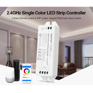 Fut036 miboxer dc12v 24 24 v 2.4 ghz cor única led strip controlador escurecimento lâmpada led luz fita dimmer pode ser controlado usando o aplicativo
