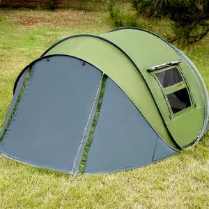 Image 5 - Открытый тент, всплывающие палатки, Открытый Кемпинг, Пешие прогулки, автоматическая сезонная палатка, скоростной непромокаемый семейный пляж, большое пространство, бесплатная доставка
